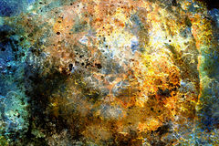 Abstract color Backgrounds, collage with spots. Rust structure and crackle Royalty Free Stock Images