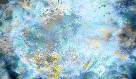 Abstract color Backgrounds, painting collage with. Spots, rust structure, blue background Stock Photo