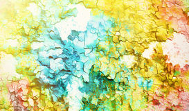 Abstract color Backgrounds, painting collage with. Spots, rust structure and crackle Stock Images
