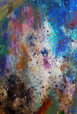 Abstract color Backgrounds, painting collage with spots, rust structure and ornaments Royalty Free Stock Photo