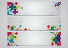 Abstract color banner. In colorful on white background Stock Photography