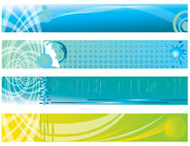 Abstract color banner illustration  Royalty Free Stock Photos