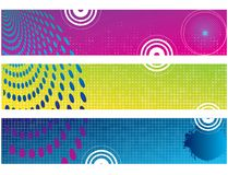 Abstract color banner illustration  Royalty Free Stock Image