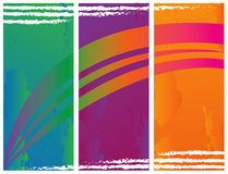 Abstract color banner illustration  Royalty Free Stock Images