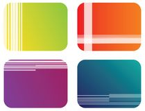 Abstract color banner illustration vector Stock Image