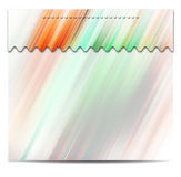 Abstract color banner set stock illustration