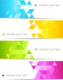 Abstract color banner Royalty Free Stock Photo