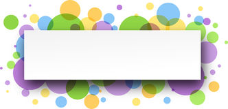Abstract color banner. Stock Photography