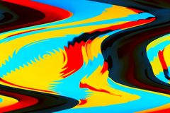 Abstract color beautiful pattern and design for background.  Royalty Free Stock Photos