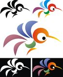 Abstract color bird Royalty Free Stock Images