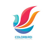 Abstract color bird - vector logo template concept illustration. Wings creative sign in optimism style. Positive design element Royalty Free Stock Image