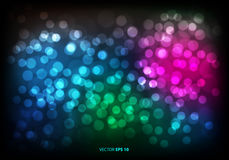 Abstract color bokeh blur light background vector. Abstract color bokeh blur light background vector illustration Stock Photos