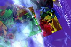 Abstract Color Boxes Stock Photography