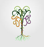 Abstract_color_branched_tree_of_vines Стоковые Фото