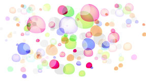 Abstract color bubble. Isolated on white background Royalty Free Stock Photography