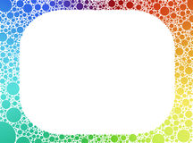 Abstract color bubbles frame Royalty Free Stock Images