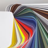 Abstract color chart Stock Photo