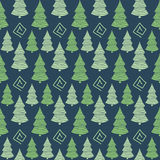 Abstract Color  Christmas green tree seamless pattern Royalty Free Stock Image