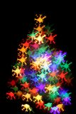 Abstract color christmas light background (xmas tree) Royalty Free Stock Images