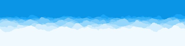 Abstract Color Clouds Sky Generative Art Background Illustration Royalty Free Stock Photo