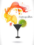 Abstract color cocktail with wave and drops Stock Photo