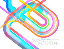 Abstract color concave motion scene Royalty Free Stock Image