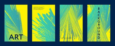 Abstract color covers set. Brushes shapes composition. Futuristic design posters. Eps10 vector Royalty Free Stock Image