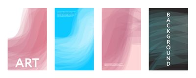 Abstract color covers set. Brushes shapes composition. Futuristic design posters. Eps10 vector Royalty Free Stock Photos