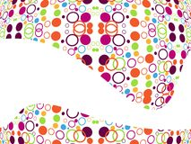 Abstract  color, creative dotes, wave Royalty Free Stock Photo