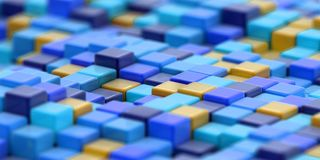 Abstract color cube block Stock Image