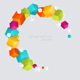 Abstract color cubes. Stock Image