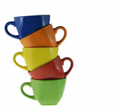 Abstract color cups Royalty Free Stock Photo