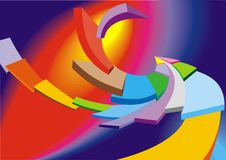 Abstract color curves background Royalty Free Stock Photo