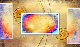 Abstract color design art Royalty Free Stock Photos