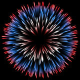 Abstract color design with a burst. vector. Vector color design with a burst. Holiday fireworks Royalty Free Stock Photography
