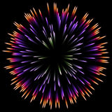 Abstract color design with a burst. vector. Vector color design with a burst. Holiday fireworks Stock Images