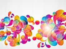 Abstract color drop background. Royalty Free Stock Images