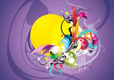 Abstract color elements composition Stock Photos