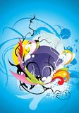 Abstract color elements composition vector illustration