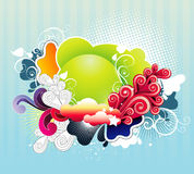 Abstract color fantasy. Abstract background color fantasy illustration vector illustration