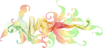 Abstract color floral background for design Royalty Free Stock Photos