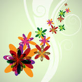 Abstract color flowers Royalty Free Stock Photography