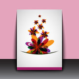 Abstract color flowers art background Royalty Free Stock Photos