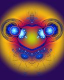 The abstract color fractal image. Texture. background royalty free illustration