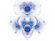 The abstract color fractal image. stock illustration