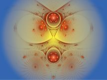 The abstract color fractal image. Stock Photography