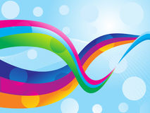 Abstract color ful wave. With blue background vector illustration Royalty Free Illustration