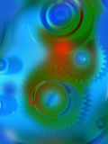 Abstract color gear background Stock Images