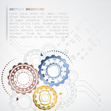 Abstract color gears  graphic Stock Images