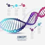 Abstract color geometric lattice DNA Royalty Free Stock Photos